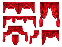 Stage Red Curtains, Victorian ...