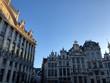 Angolo della Grande Place e cielo blu, Bruxelles, Belgio