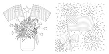 American Flags Drawing Set For...