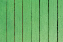 Wood Plank Green Paint Background