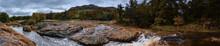 Raging River In Wichita Mountains Panorama