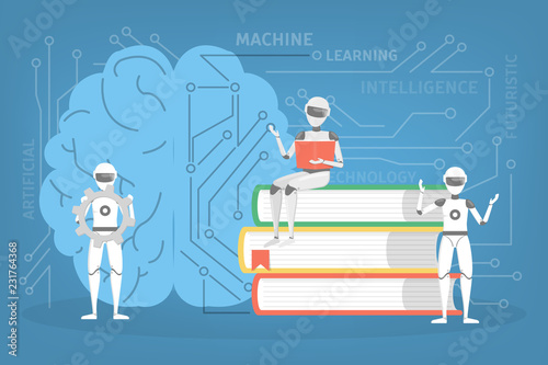 Machine learning concept Poster Mural XXL