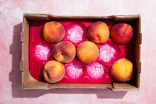 Peaches In Cardboard Box