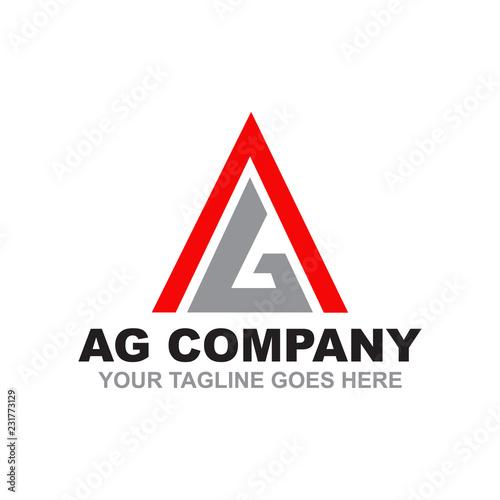 AG logo design vector template Wallpaper Mural