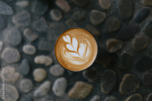 Cortado on stone background