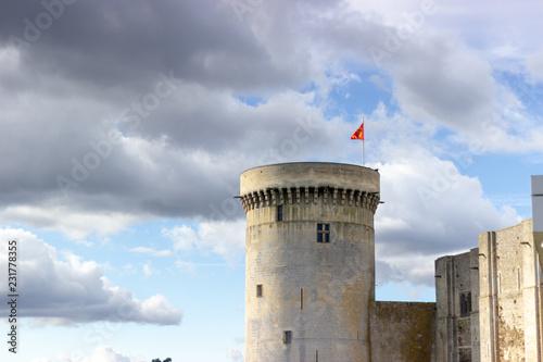 Fotografie, Obraz  tour avec drapeau normand