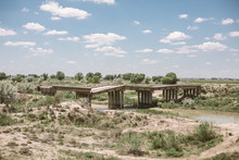 Broken Bridge In Uzbekistan