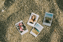 Summer Themed Polariods On The...