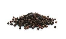 Black Pepper Grains On White B...