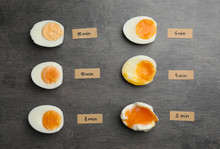 Various Types Of Boiled Eggs O...