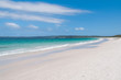 Australian beach with white sand and turquoise water