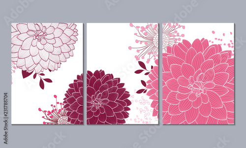 Valokuva A set of 3 canvases for wall decoration in the living room, office, bedroom, kitchen, office
