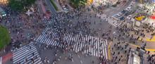 Pedestrians Crosswalk At Shibu...