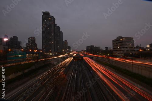 Keuken foto achterwand Los Angeles traffic at night
