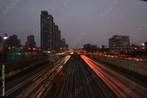 Keuken foto achterwand Los Angeles traffic