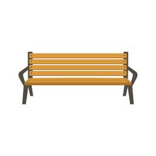 Park Bench Vector Illustration Flat Style