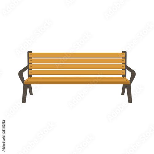Photo park bench vector illustration flat style
