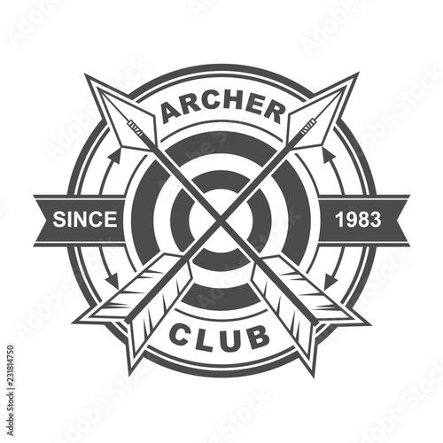 Symbol and logo template design with archery theme Tapéta, Fotótapéta