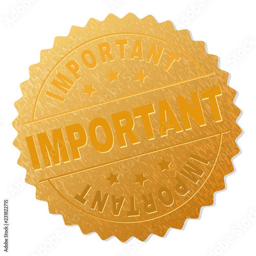 Fotografía  IMPORTANT gold stamp award