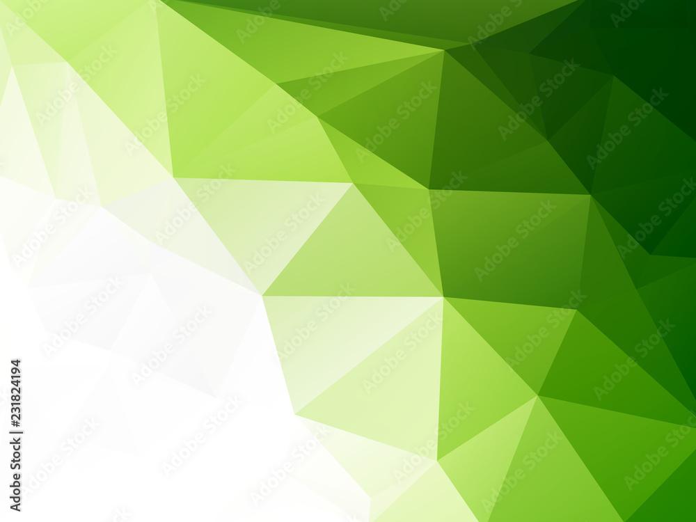 Fototapeta eco geometric green mosaic background