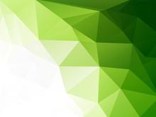 Eco Geometric Green Mosaic Background