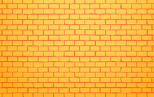 Yellow Brick Wall Vector Illustration Background