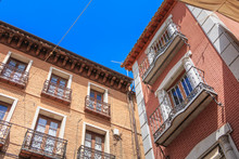 Architectural Detail Of Houses Typical Of The Historic City Center Of Toledo