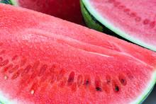Water Melon Cut - Macro Close-...