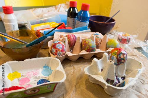Stickers pour portes Pique-nique DIY Décoration des eufs de Pâques
