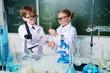 two children scientists