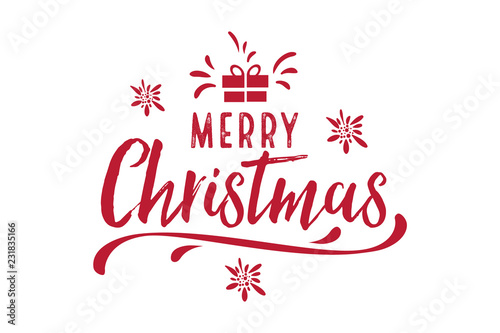 Merry Christmas, happy New Year letter text card text ...