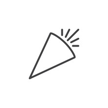 Party Horn Blower Outline Icon...