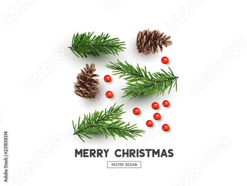 Fotografía  Merry Christmas Natural Design Layout
