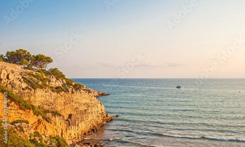 Spoed Foto op Canvas Mediterraans Europa Mediterranean Coast at the Spanish resort of La Pineda in Salou
