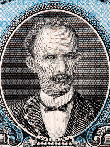 Foto  Jose Marti portrait from Cuban money
