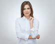 Businesswoman professional studio portrait