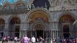 People walk around of basilica San Marco in Venice