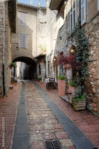 Canvas Prints Narrow alley Assisi