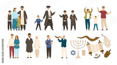 Cuadros en Lienzo Collection of jews and Jewish or Hebrew symbols