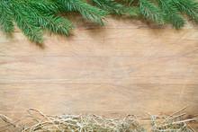 Fir Tree And Hay Christmas Abs...