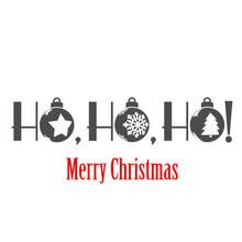 Logotipo Con Texto Ho, Ho, Ho ...