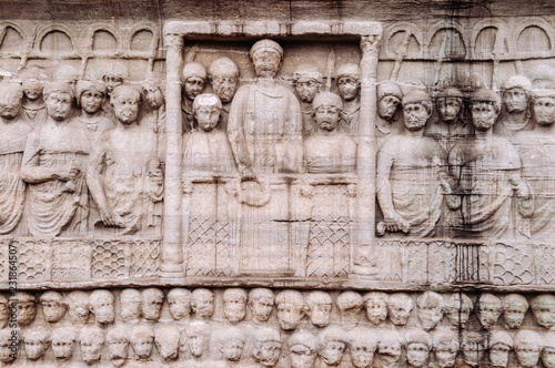 Canvas Stone carving sculpture image at base of Obelisk of Theodosius