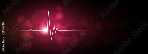 heartbeat red background Wallpaper Mural