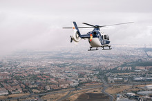 Police Helicopter That Overflew The Madrid City