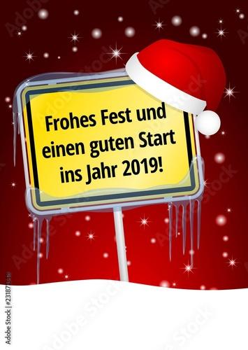Photo Frohe Weihnachten und ein erfolgreiches Jahr 2019