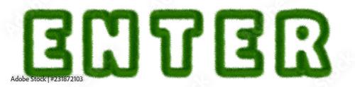 Fotografía  Enter - text written with grass