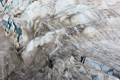 Foto op Canvas Gletsjers Cracks in the Small Azau glacier on Mount Elbrus.