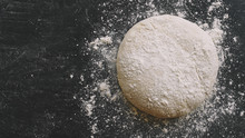 Raw Yeast Dough For Pizza, Bre...