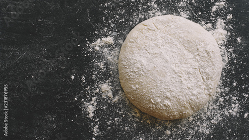 Fotografija Raw yeast dough for pizza, bread or pasta