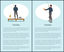 Sportfisherman With Fishing Gear And Fish Catch